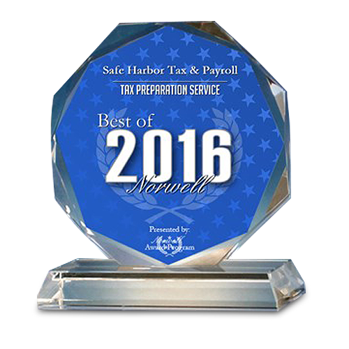 Safe Harbor Tax & Payroll Receives 2016 Best of Norwell Award